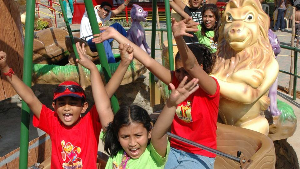 Kids Rides - Lion Swing at  Wonderla Amusement Park Bangalore