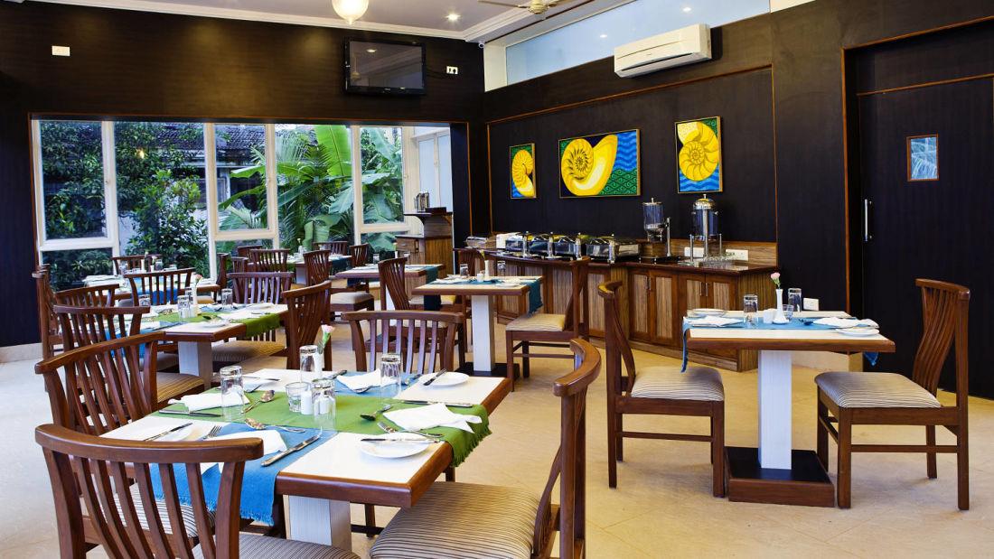 Nautilus Restaurant of Quality Inn Ocean Palms Goa