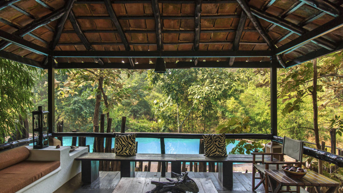 Cottages in satpura  Reni Pani Jungle Lodge in madhai  resort in satpura national park
