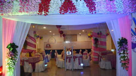 Entrance to Ghazal banquet hall in Patna