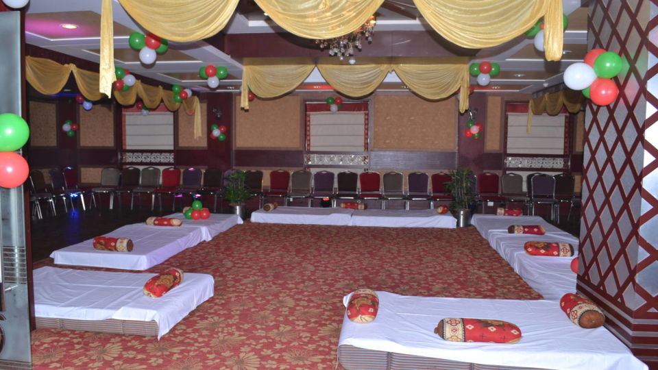 Interior of Geet Banquet Hall In Patna at Hotel Gargee Grand