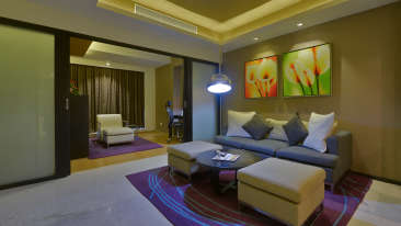 DELUXE SUITE LIVING AREA at Davanam Sarovar Portico Suites Bangalore