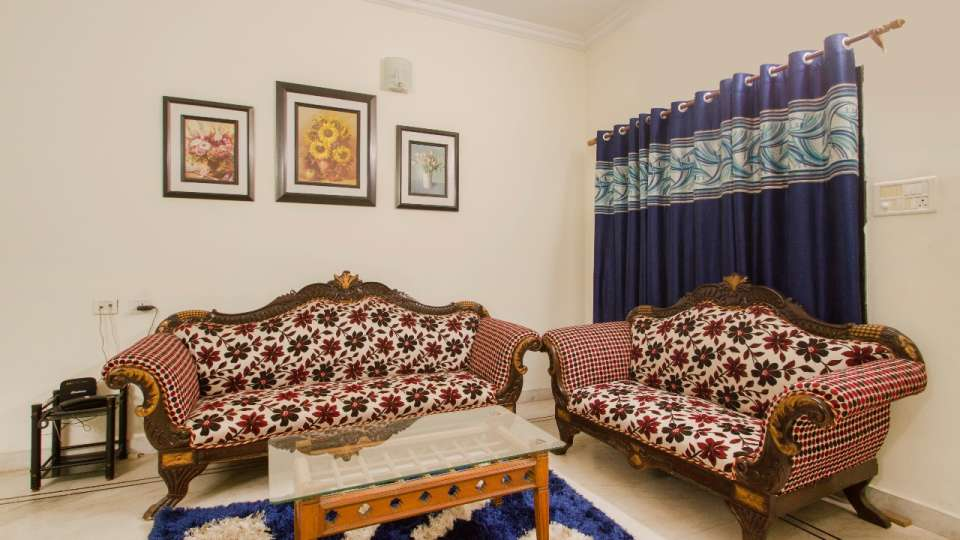 Living area at Hotel NirmalVilla Cherry Service Apartment - Begumpet Hyderabad 6