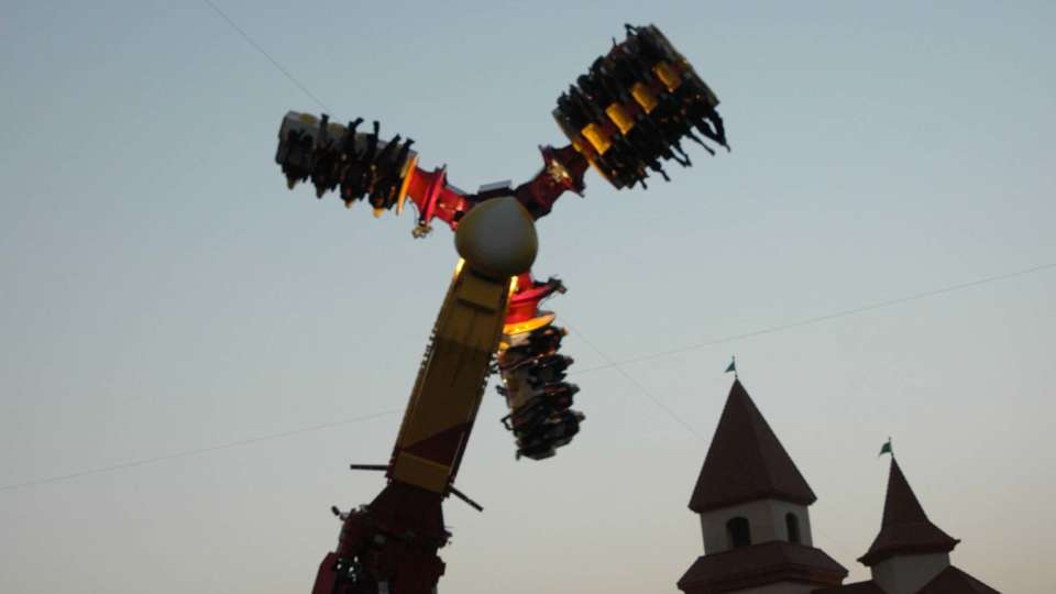 Thrillers Rides - Hurricane at  Wonderla Amusement Park Bangalore