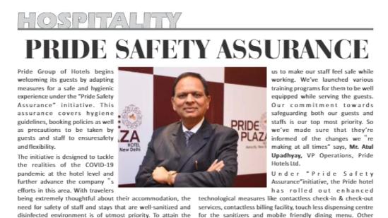 S P Jain The Pride Group Of Hotels Safari Plus June 2021 Page 18.