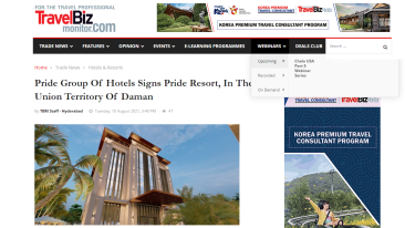 Pride-Group-Of-Hotels-Signs-Pride-Resort-In-The-Union-Territory-Of-Daman-TravelBiz-Monitor-India-travel-news-travel-trends-tourism