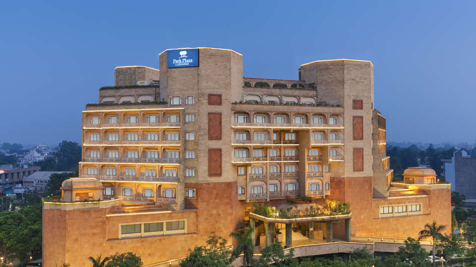 Facade of Park Plaza Ludhiana 5 Star Hotel in Ludhiana