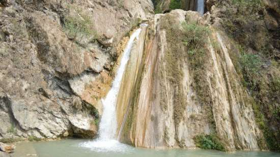 Neer Garh Water Fall 1, near The Glasshouse by The Ganges in Rishikesh, hotel near Ganga river