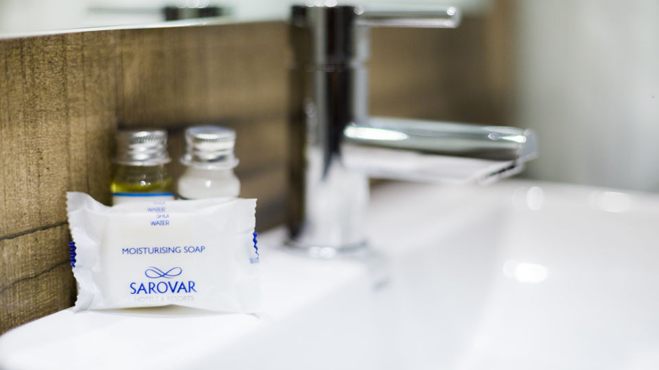 bathroom amenities at at Hotel Sarovar Portico Lonavala 2