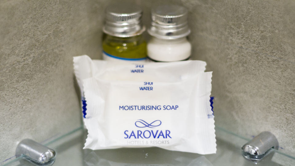 bathroom amenities at at Hotel Sarovar Portico Lonavala 3