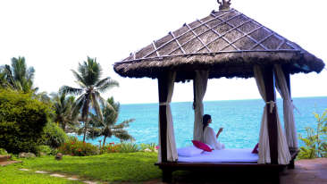 Yoga spot at Niraamaya Surya Samudra Resorts in Kovalam