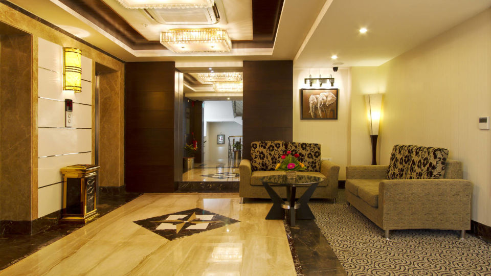 Lobby of 4 star hotel in Patna