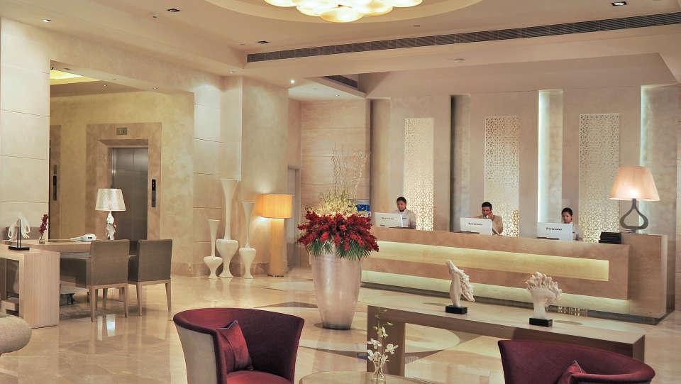 Reception Lobby Radisson Hyderabad Hitech City Hyderabad 4