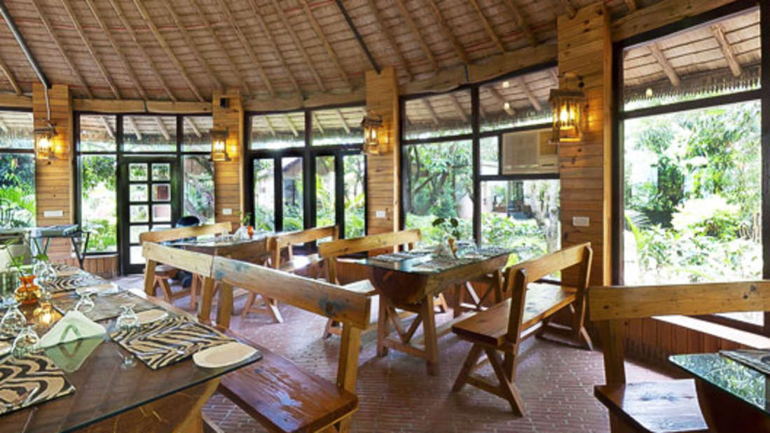 Restaurant at Corbett Wild Iris Spa Resort 1