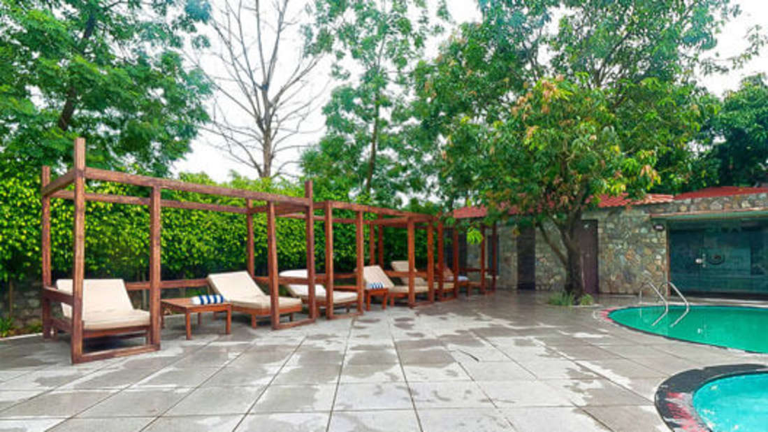 Swimming Pool at Premium Suite at Corbett Wild Iris Spa Resort 2