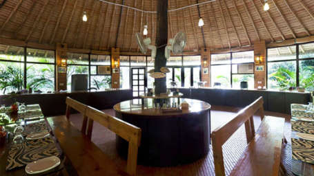 Restaurant at Corbett Wild Iris Spa Resort 3