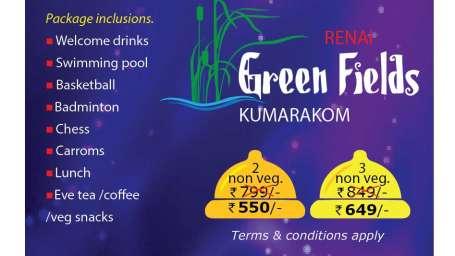 Day Out Monsoon Fun at Green Fields Kumarakom