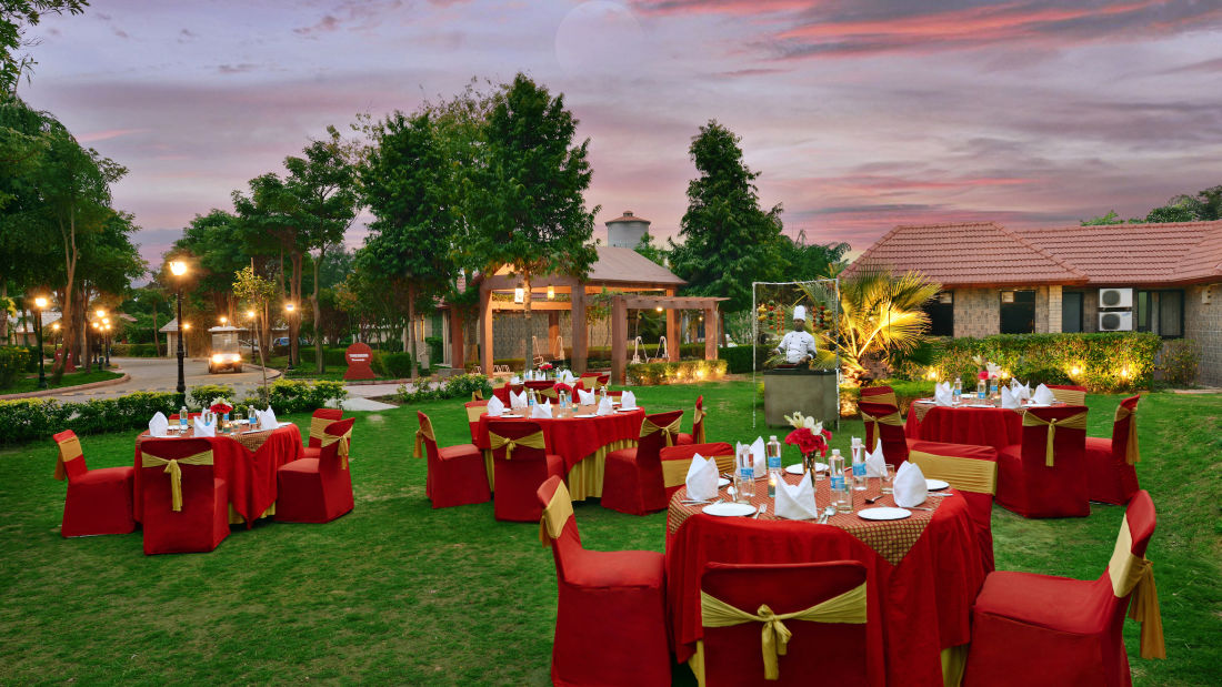 Gathbandan Lawn Banquet in Mathura Destination weddings in Mathura at Shri Radha Brij Vasundhara Resort Spa Mathura