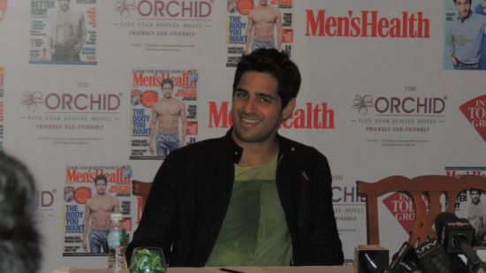 Siddharth Malhotra Bollywood actor at the The Orchid Hotel Mumbai