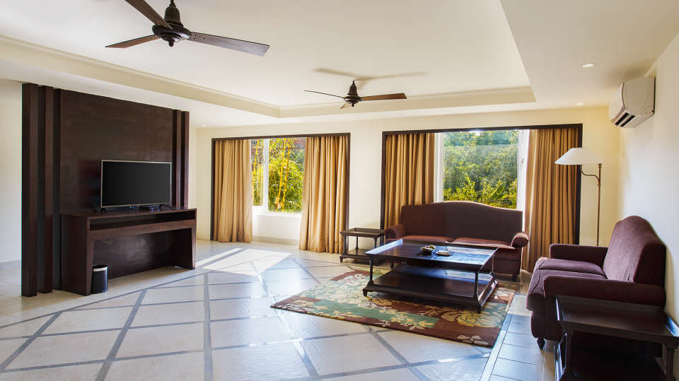 Aloha On the Ganges Rishikesh Living room- Two Bedroom Premium apartment