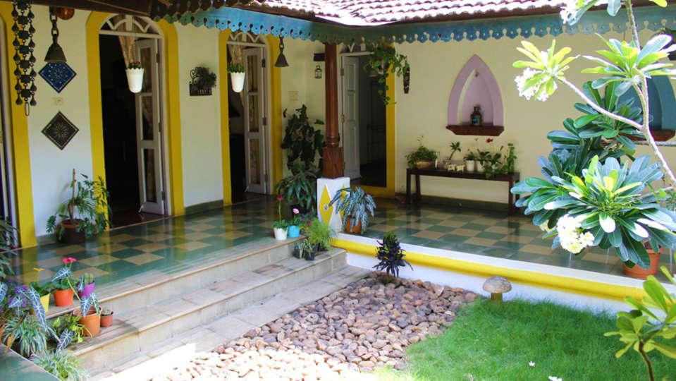Arco Iris - 19th C, Curtorim Goa The Rear Courtyard at Arco Iris Arco Iris - 19th C Curtorim Goa