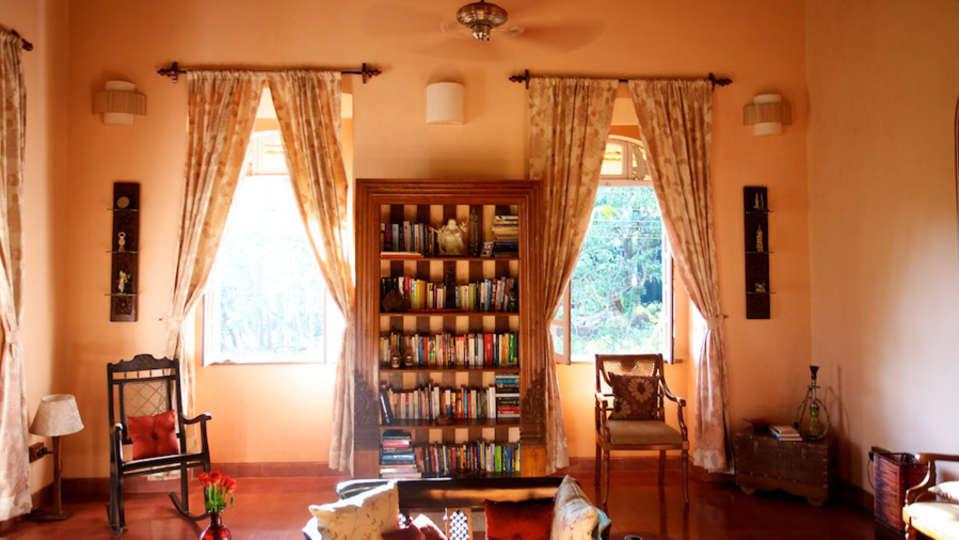 Arco Iris - 19th C, Curtorim Goa The reading corner of the salon Arco Iris - 19th C Curtorim Goa