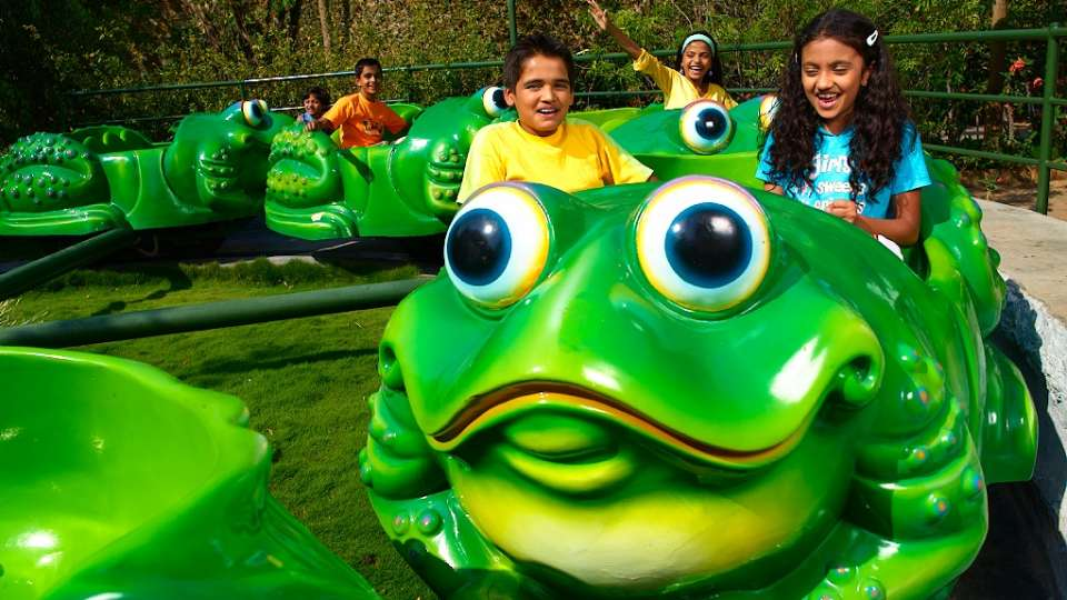 Kids Rides - Jumping Frog at  Wonderla Amusement Park Bangalore
