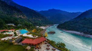 Aloha On the Ganges Rishikesh Patio alfresco dining 2
