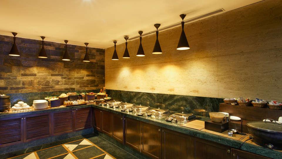 Ganga Lahari Hotel, Haridwar Haridwar Buffet area Restaurant The Ganga Lahari Hotel