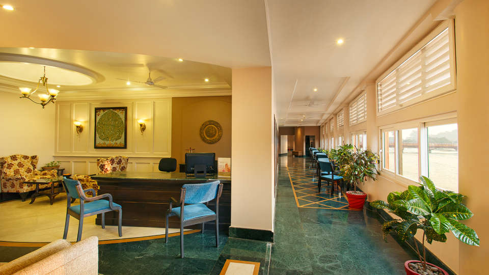 Reception The Ganga Lahari Hotel, hotel near haridwar railway station