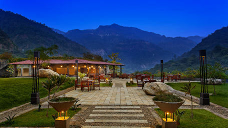 Aloha On the Ganges Rishikesh Patio alfresco dining 1