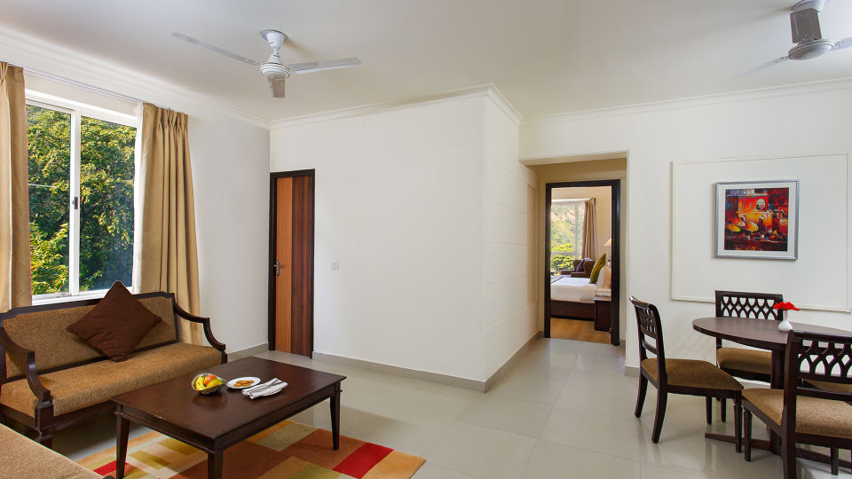 Aloha On the Ganges Rishikesh Living room-Two Bedroom apartment