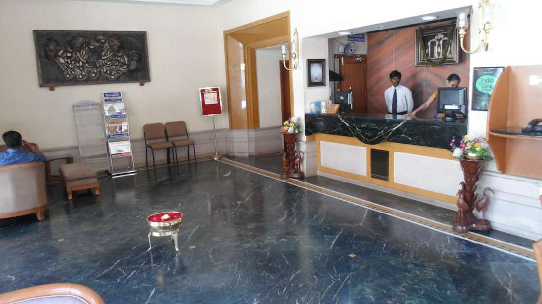 Kalyan Residency Hotel in Tirupati Reception1