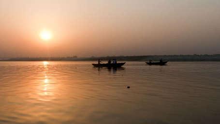 View of Ganga River near Aloha On the Ganges Rishikesh Resort and Hotel Rishikesh