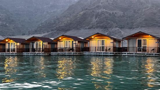Floating Huts Exterior