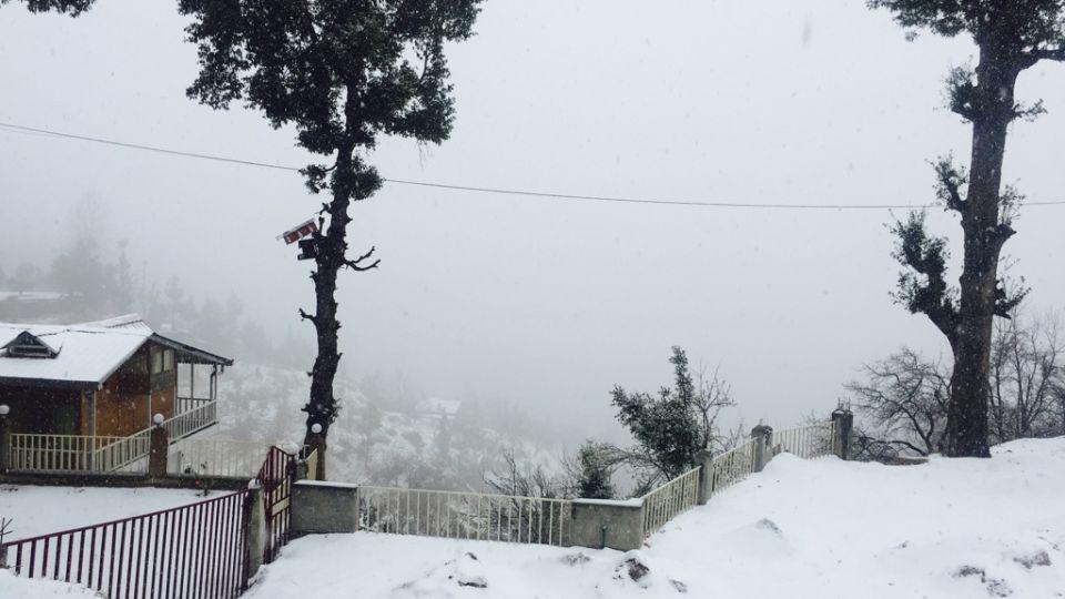 Ojaswi Himalayan Resort, Mukteshwar Nainital Snowfall time Ojaswi Himalayan Resort Mukteshwar 3