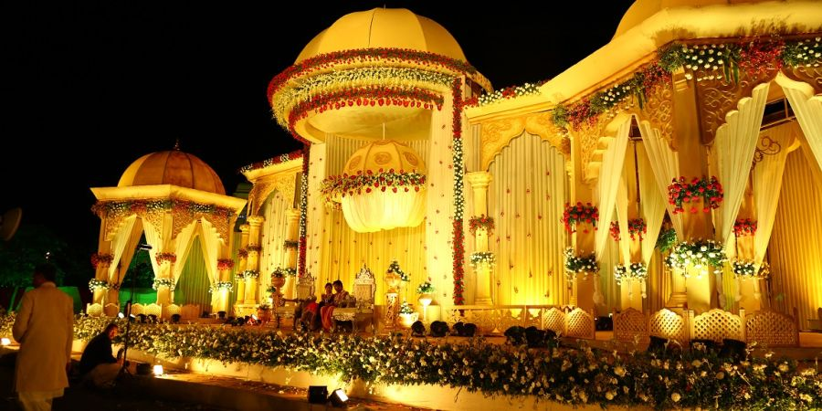 alt-text event decoration at Narayani Heights, best banquets in ahmedabad 5