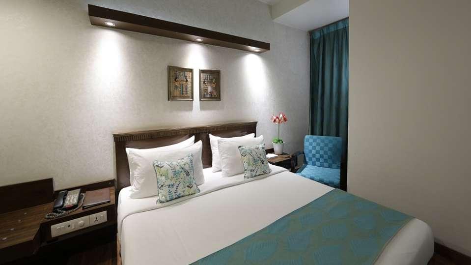 Deluxe Room Rockland Hotel Chittaranjan Park New Delhi Hotel in CR Park 3
