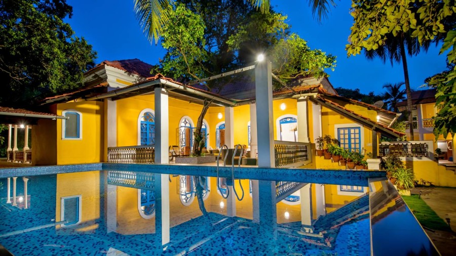 Swimming pool at Bara Bungalow South Goa 1  Villas in South Goa  South Goa Villa