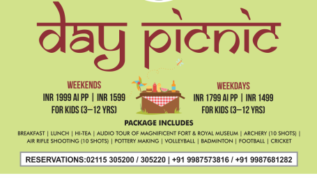 Day Picnic at Fort Jadhavgadh Heritage Resort Hotel Pune