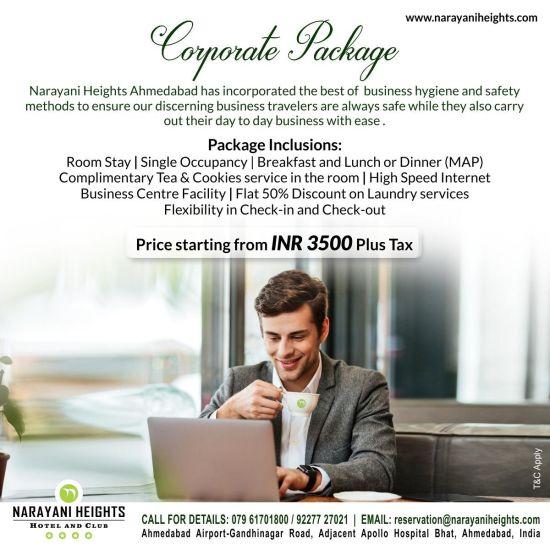 corporate package at Narayani Heights gandhinagar,  ahmedabad luxury hotel 1