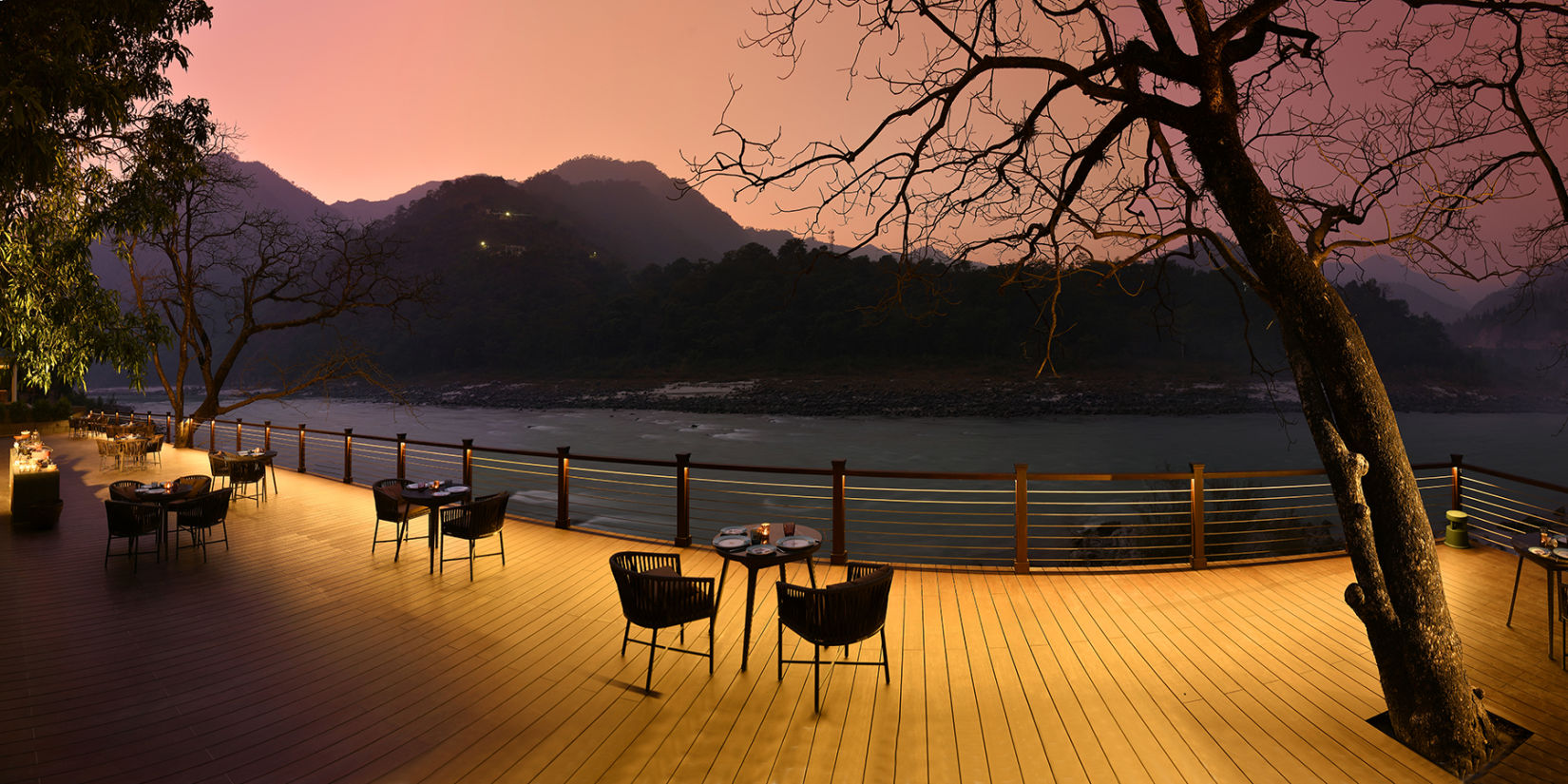 Dining at The Glasshouse on the Ganges