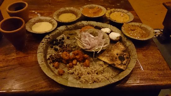 The traditional Rajasthani thali