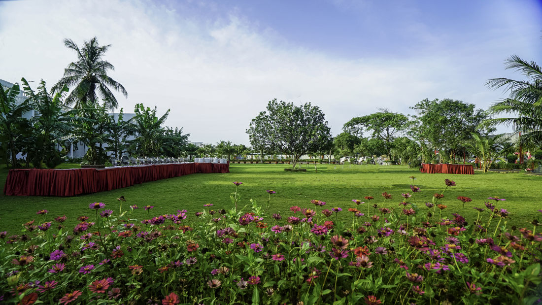 Lawns Banquet Restaurant Sai Priya Beach Resort Vizag