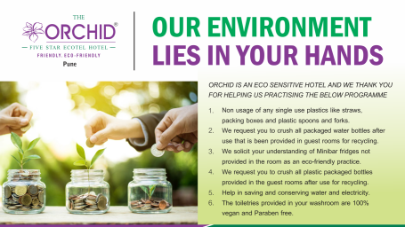 Eco-Friendly Practice at The Orchid Hotel Pune