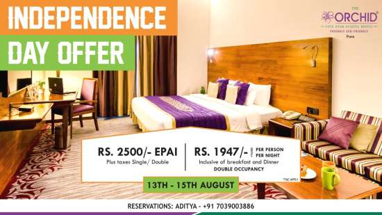 Independence Day offer at Orchid Hotels