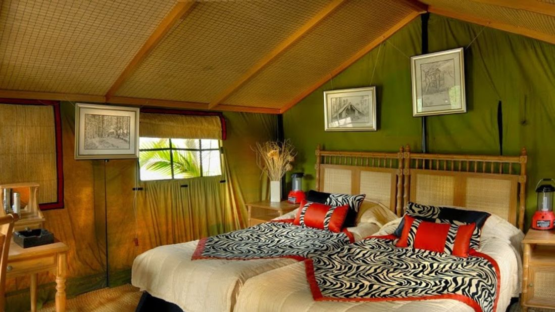 Tents at The Hideaway River Lodge - Corbett Resort in jim corbett national park
