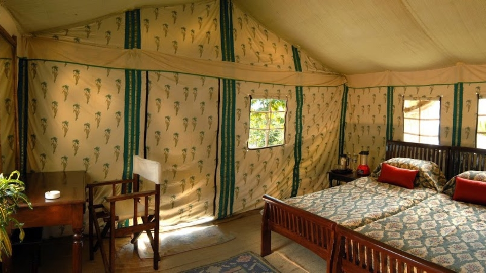 Tents at The Jamoon - Corbett Resort in jim corbett national park