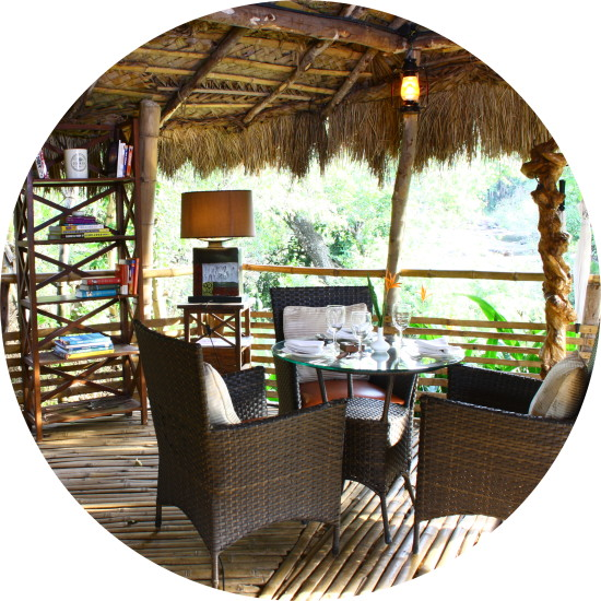 Outdoor Cafe, Amanvana Spa Resort, Luxury Coorg Resort 45