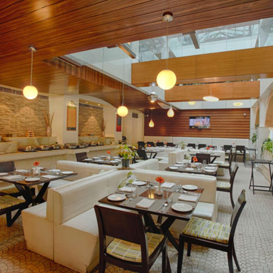 alt-text Atrium Coffee Shop Levana Hotel Hazratganj Hotels in Hazratganj 2